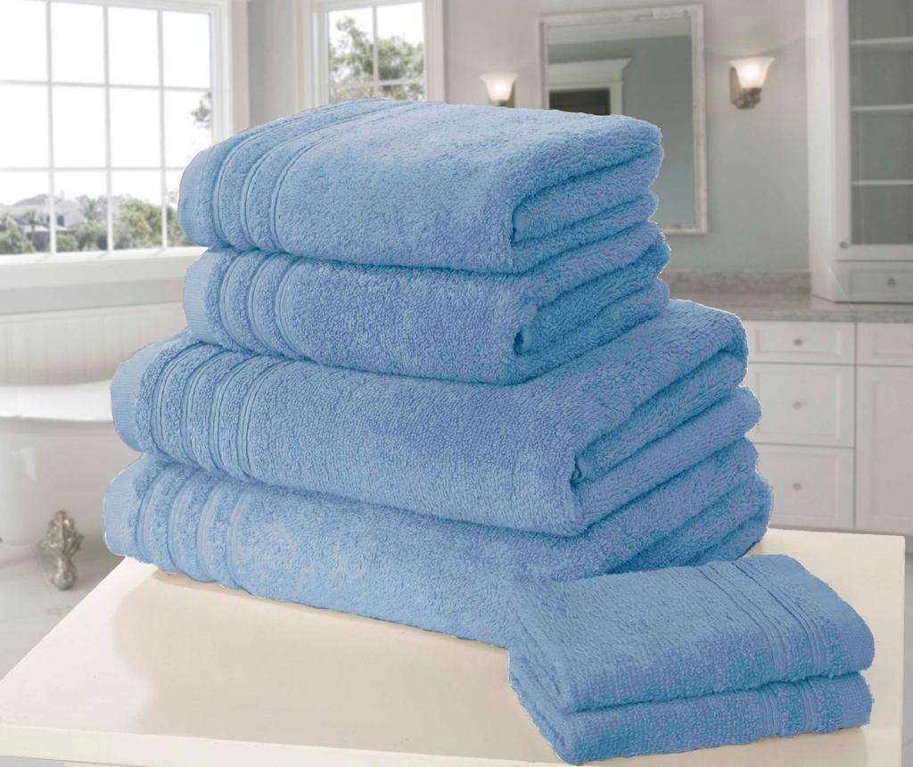 Set 6 prosoape de baie So Soft Blue