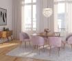 Stol Makro Light Pink Velvet