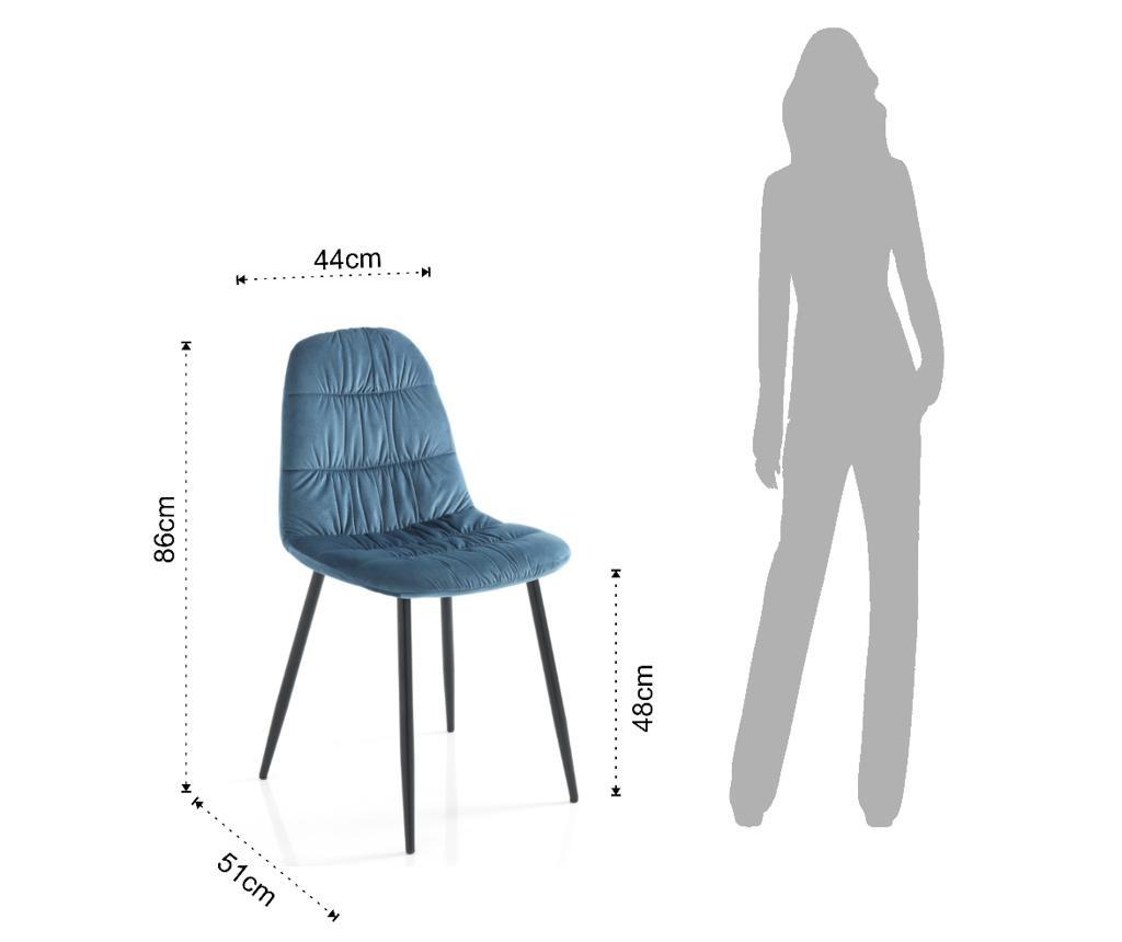 Комплект 4 стола Fluffy Blue