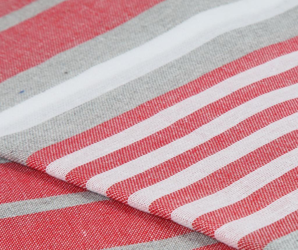 Peshtemal Lines Red Törülköző 90x180 cm