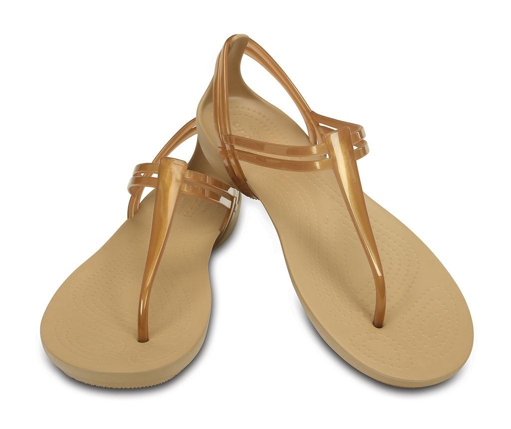 Ženski sandali Crocs Isabella T-strap Golden 33-34