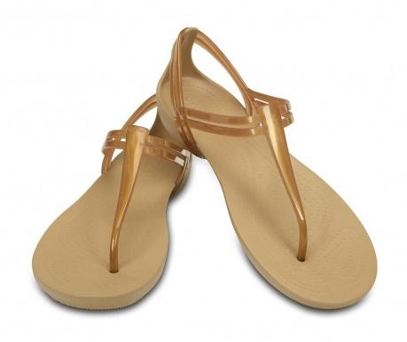 Ženski sandali Crocs Isabella T-strap Golden 36-37