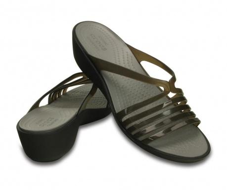 Ženski sandali Crocs Isabella Mini Wedge Black 37-38