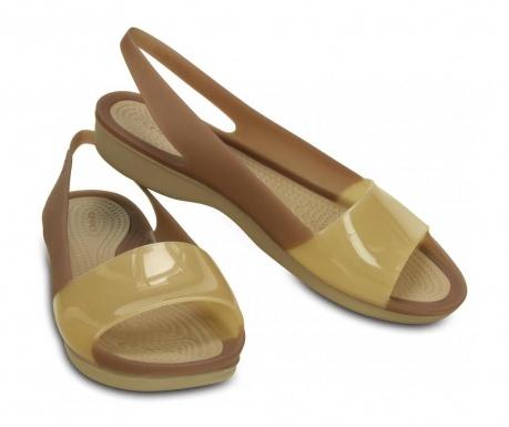 Ženske papuče ColorBlock Flat W Cream 39-40