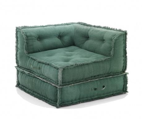 Комплект пуф и възглавница за под Picas Green