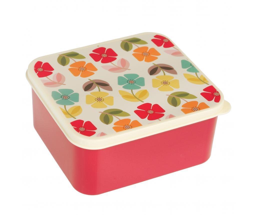 Mid Century Poppy Uzsonnás doboz