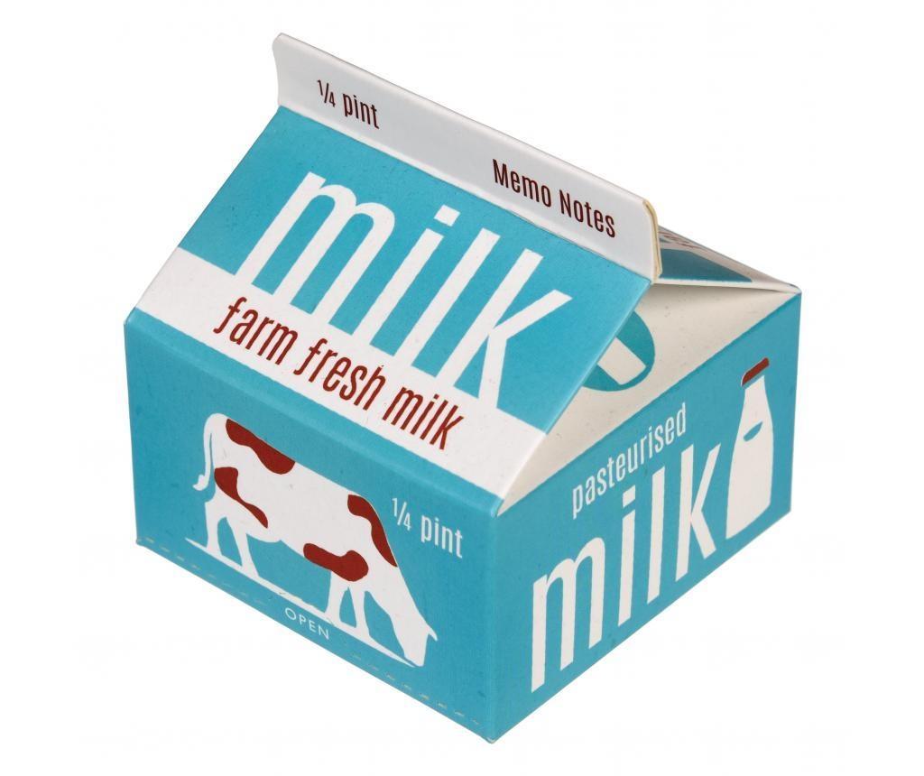 Set 300 notite memo cu suport Blue Milk