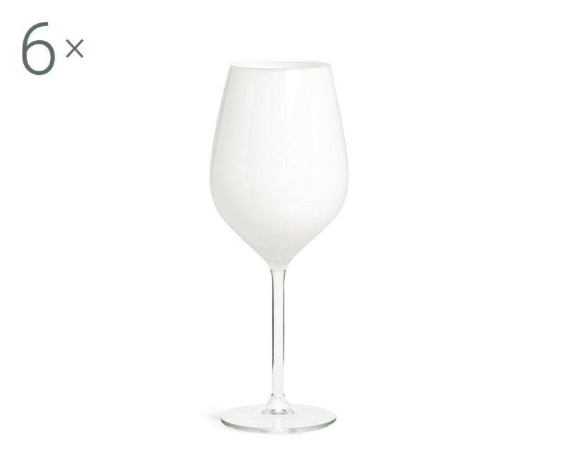 Set  6 kozarcev za vino Rolando White 500 ml