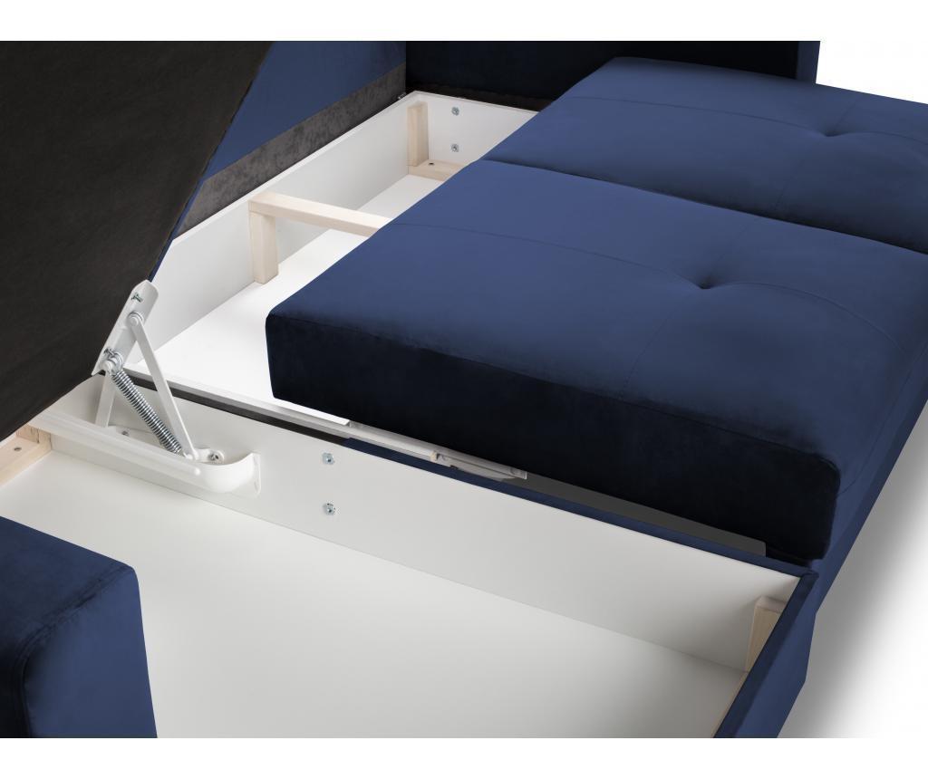 Andante Royal Blue Megfordítható és kihúzható sarokkanapé