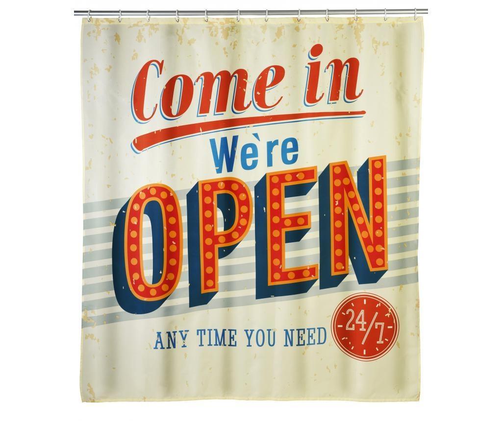 Zavjesa za tuš Vintage Open 180x200 cm