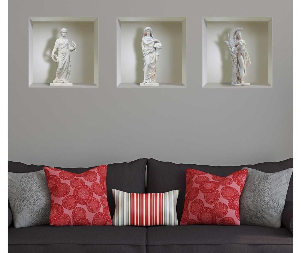 Set 3D naljepnice Statues