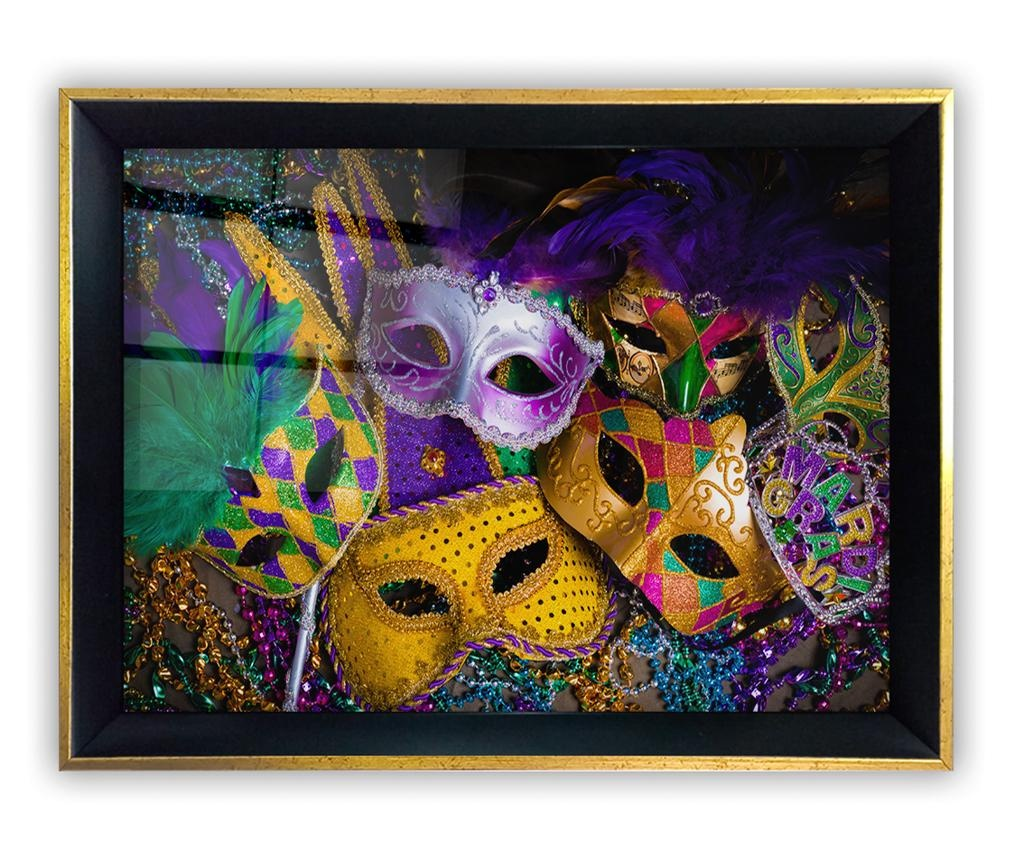 Obraz Colored Masks 35x45 cm