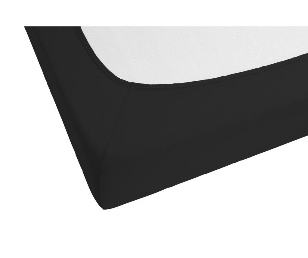 Cearsaf de pat cu elastic Black 160x200 cm
