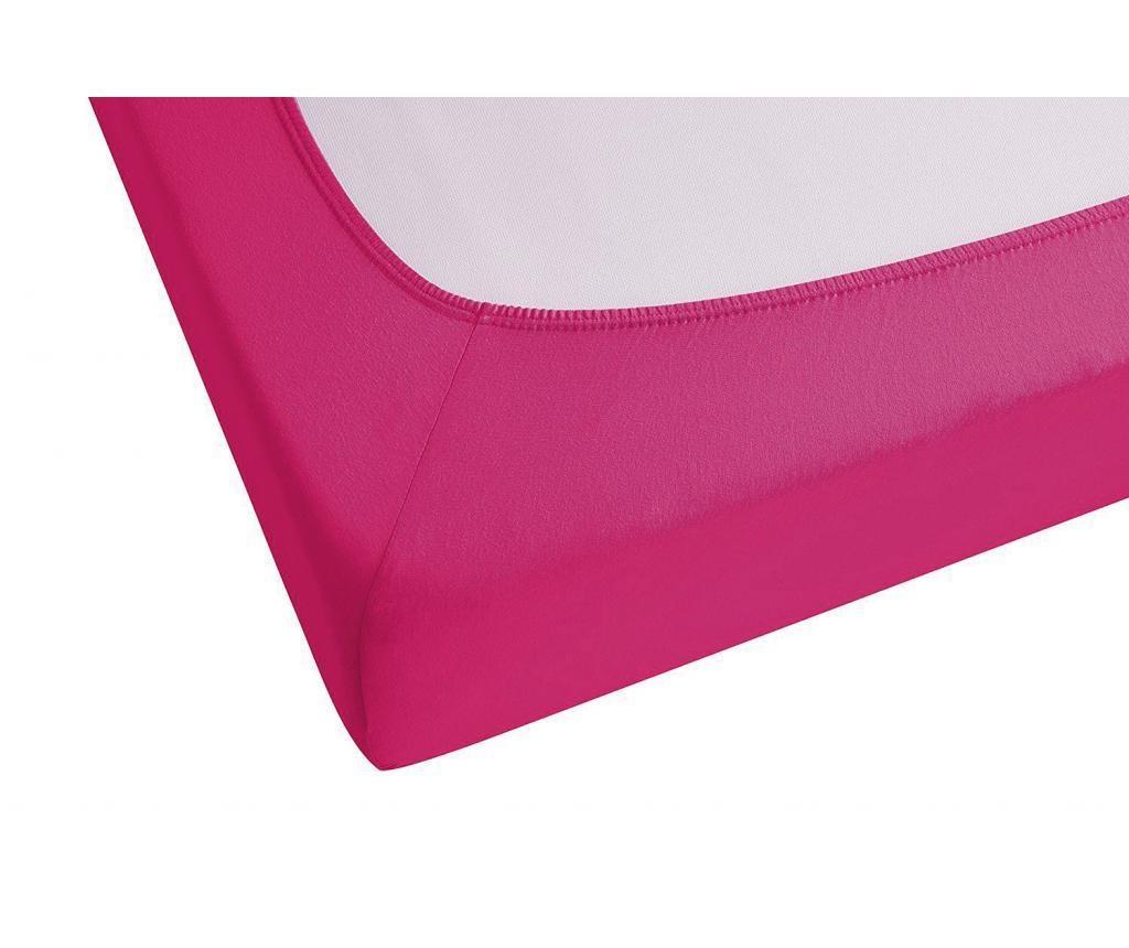 Cearsaf de pat cu elastic Pink 180x200 cm