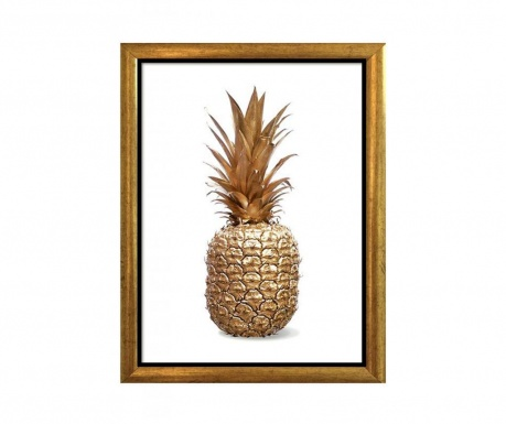 Obraz Pineapple Golden 23x33 cm