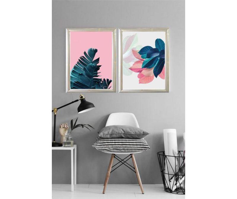 Set 2 tablouri Petals 23x33 cm