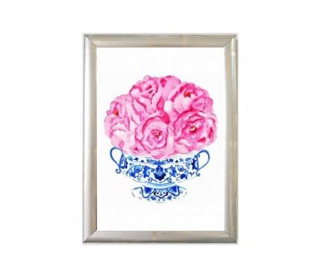 Cini Vazo Pink Roses Kép 23x33 cm