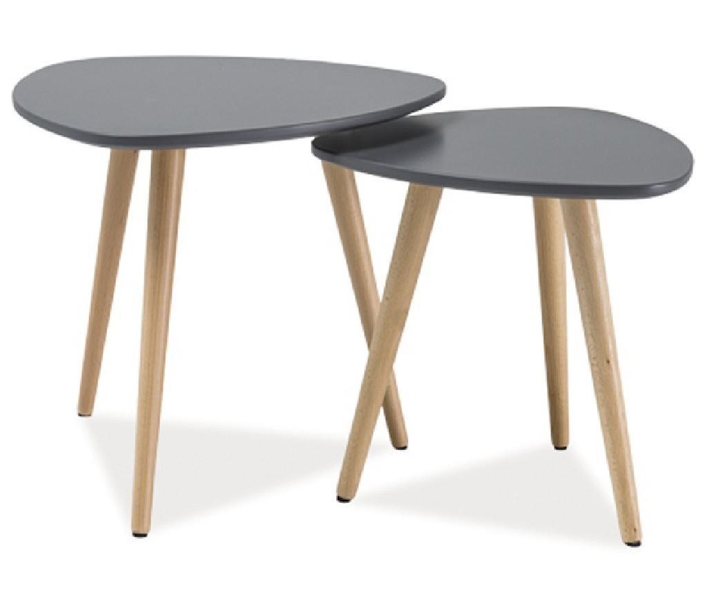 Set 2 klubskih mizic Zaria Grey
