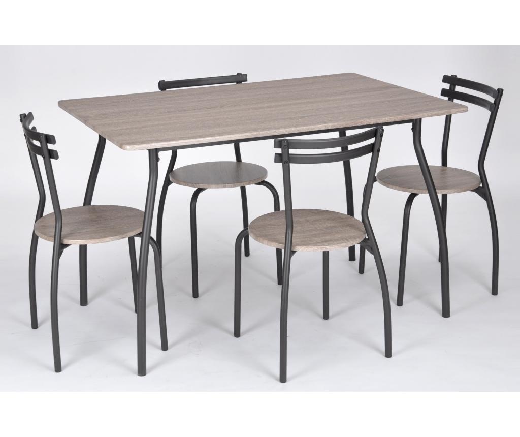 Комплект маса и 4 стола за екстериор Vega Cream