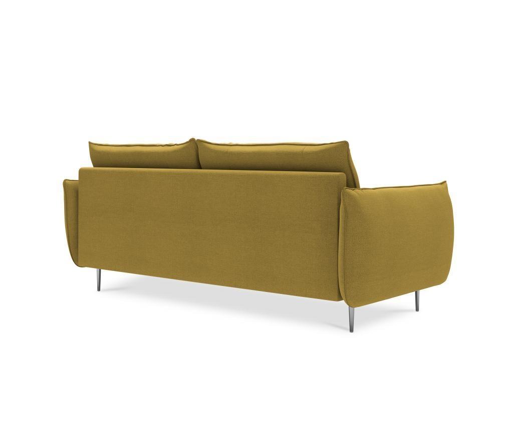Sofa cu 2 locuri Antonio Yellow