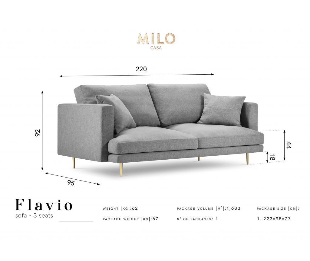 Sofa cu 3 locuri Flavio Beige