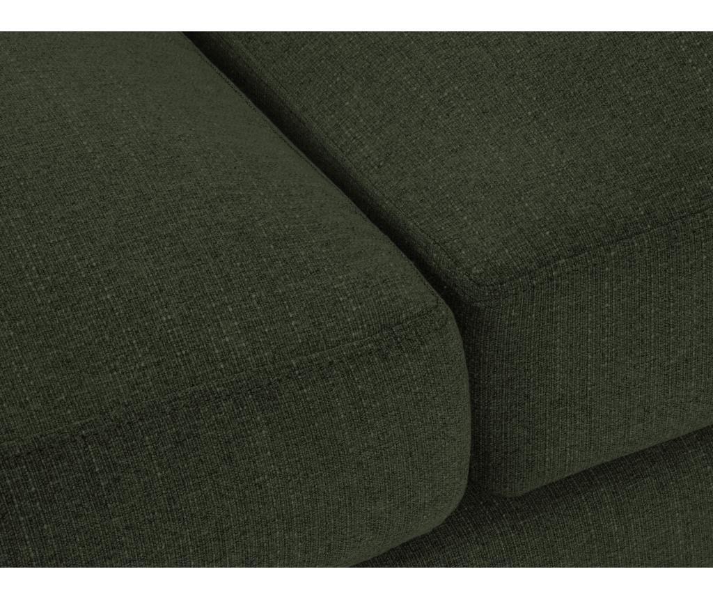 Canapea cu 3 locuri Flavio Bottle Green