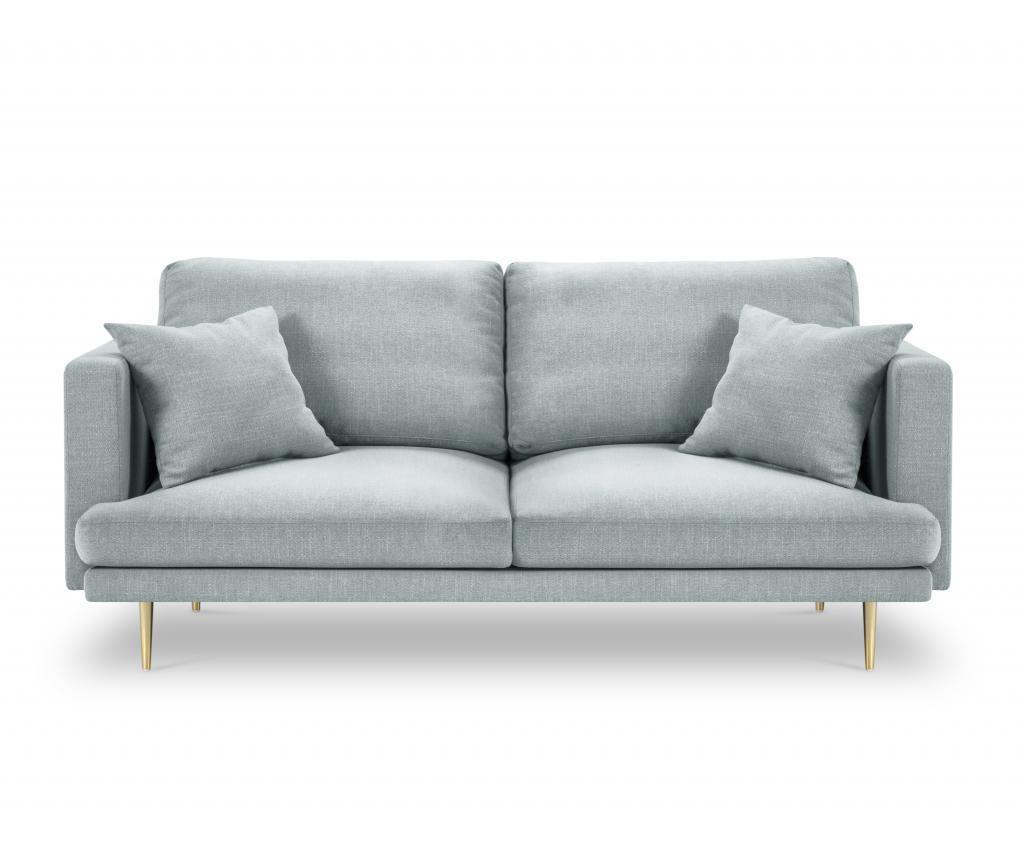 Sofa cu 3 locuri Flavio Light Blue