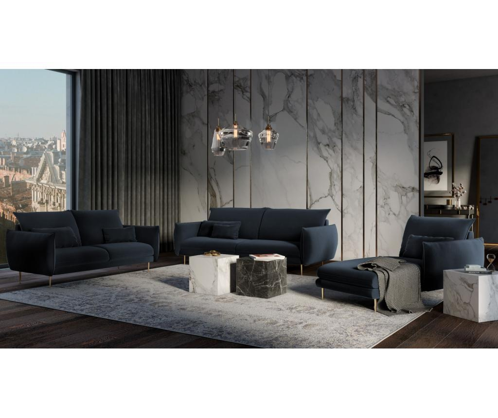 Sofa cu 4 locuri Biagio Dark Blue