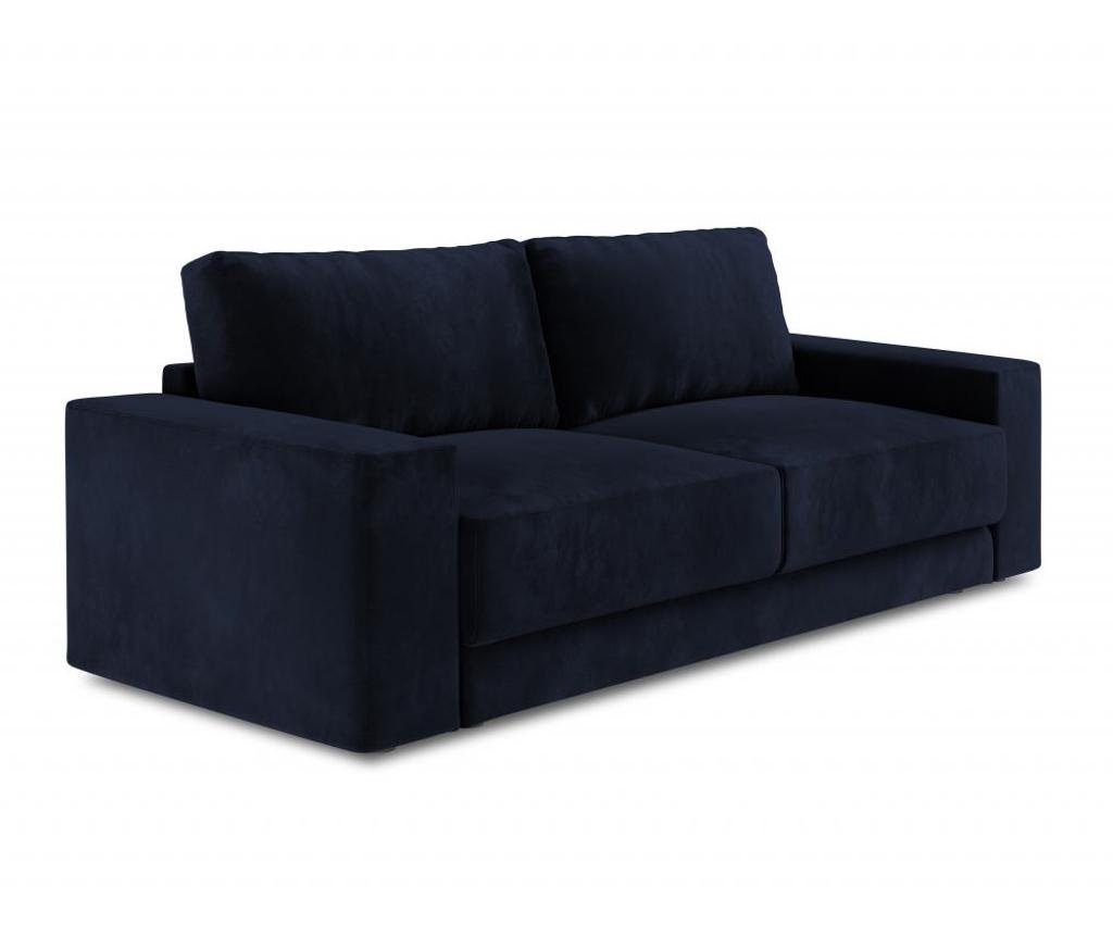 Canapea extensibila 4 locuri Gaia Dark Blue