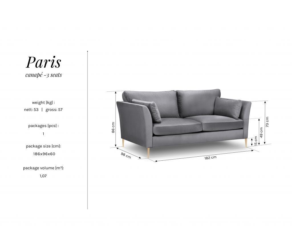 Canapea 3 locuri Paris Beige