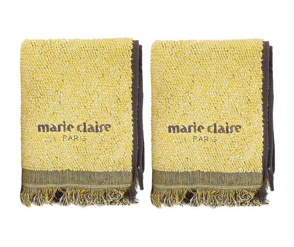 Set 2 kopalniških brisač Marie Claire Colza Lemon 40x60 cm