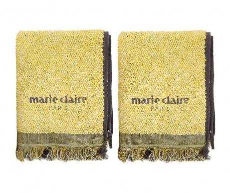 Set 2 prosoape de baie Marie Claire Colza Lemon 40x60 cm