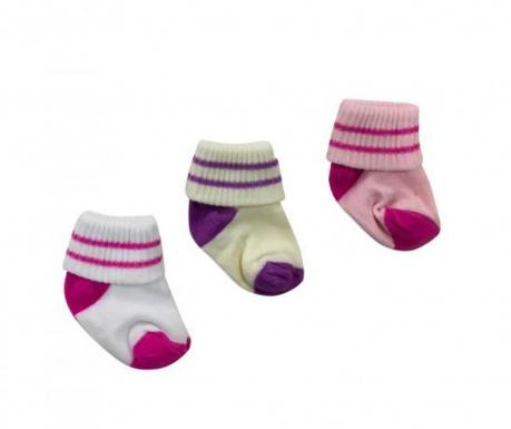 Set 3 para dječjih čarapa 0-6 mj.