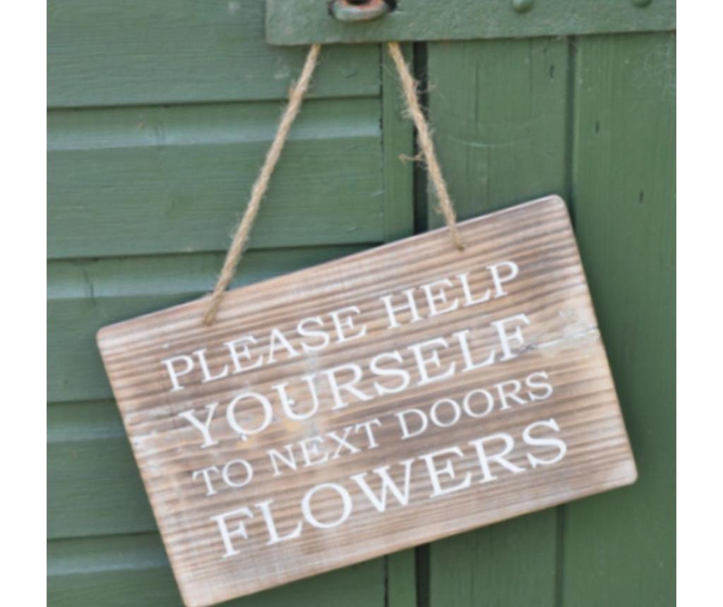 Drveni vrtni znak Help Yourself