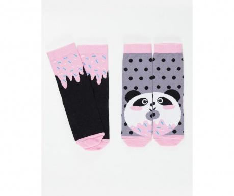 Set 2 perechi de sosete copii Panda&Cream 4-5 ani
