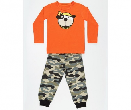 Set bluza si pantaloni pentru copii Dog Camouflage 6 ani