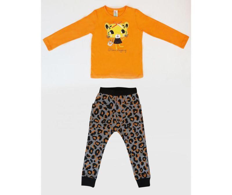 Set bluza si pantaloni pentru copii Leopard 7 ani