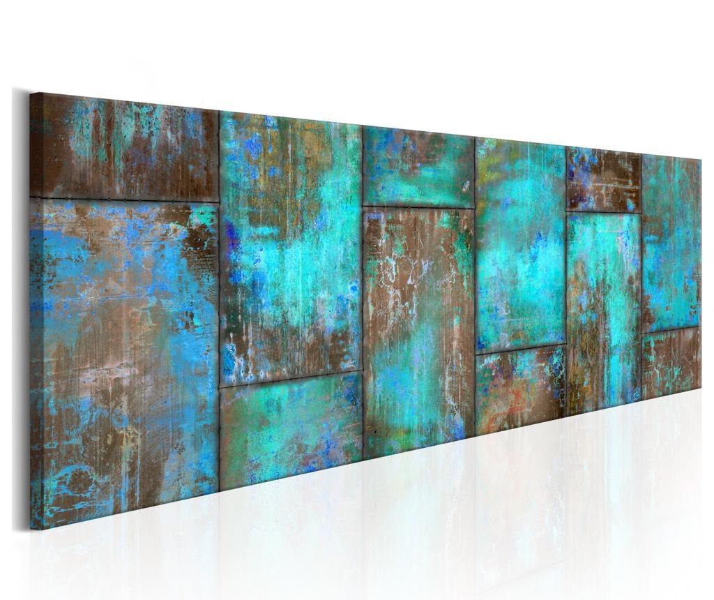 Slika Metal Mosaic Blue 120x40 cm