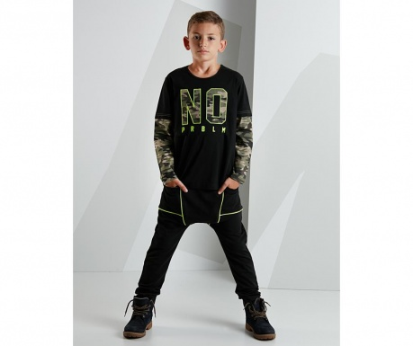 Set bluza si pantaloni pentru copii No Camouflage 10 ani