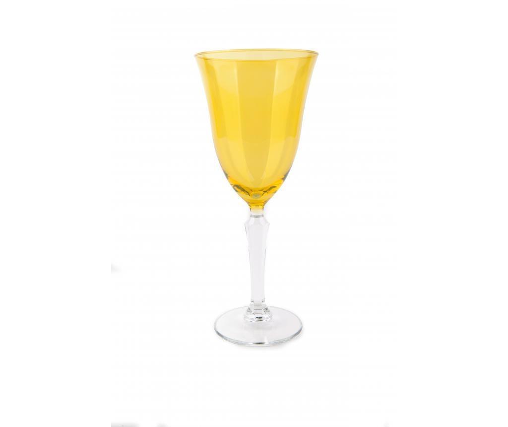 Kozarec na peclju Crystal Wine Yellow 320 ml