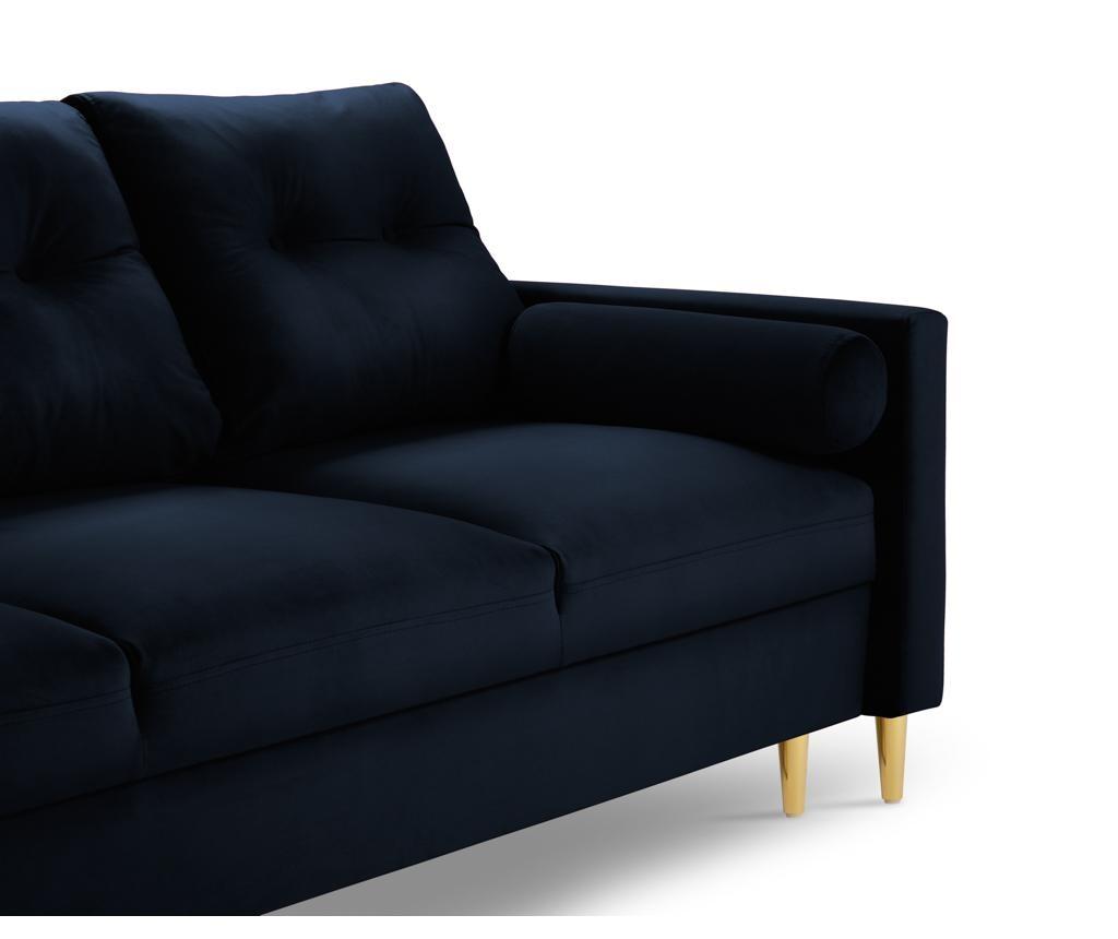 Tokyo Dark Blue Háromszemélyes kihúzható kanapé