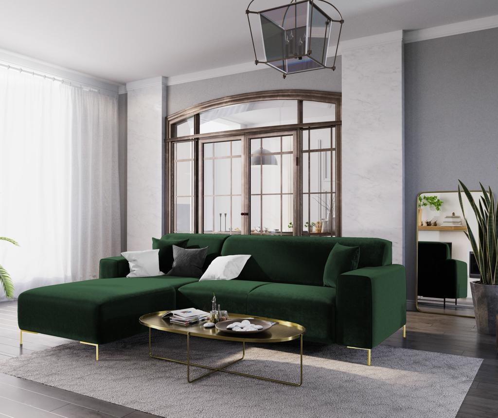 Ljeva kutna sofa četverosjed Modena Green