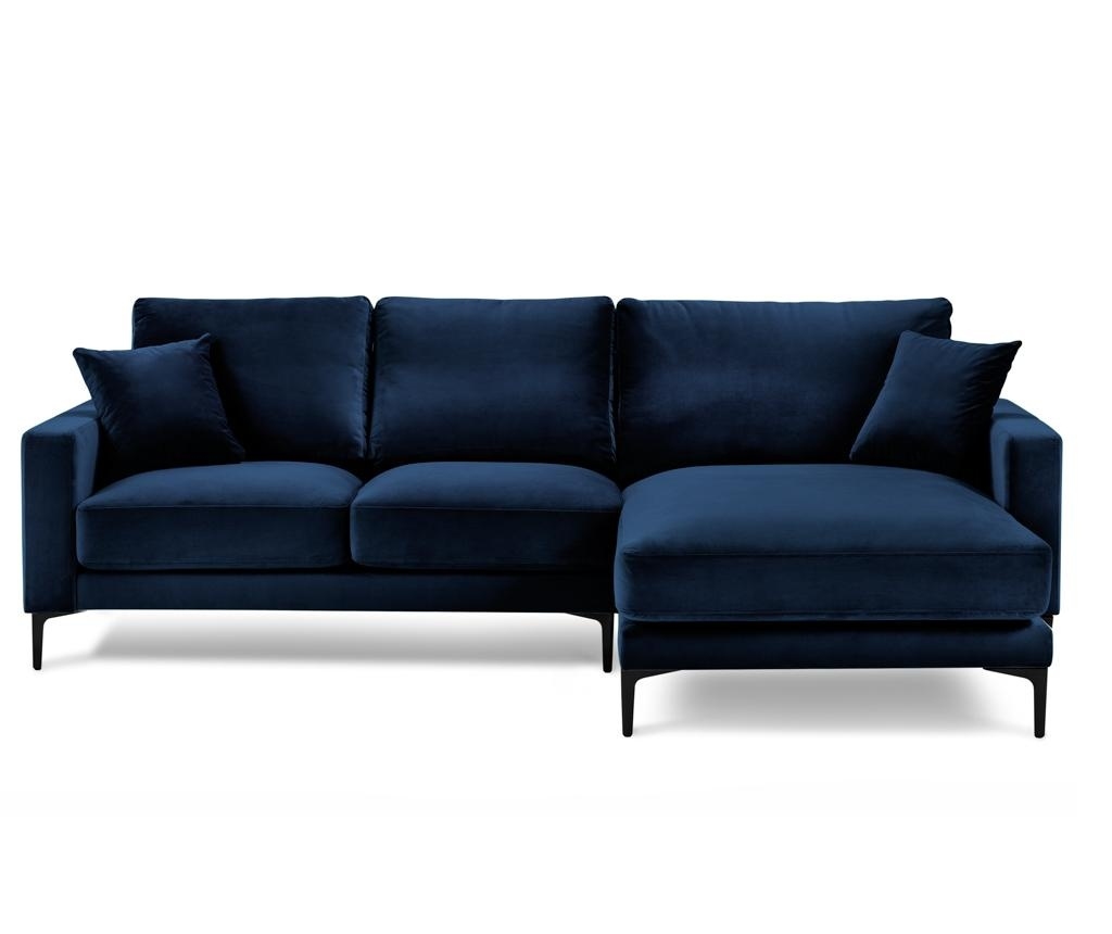 Desna kutna sofa četvorosjed Harmony Dark Blue