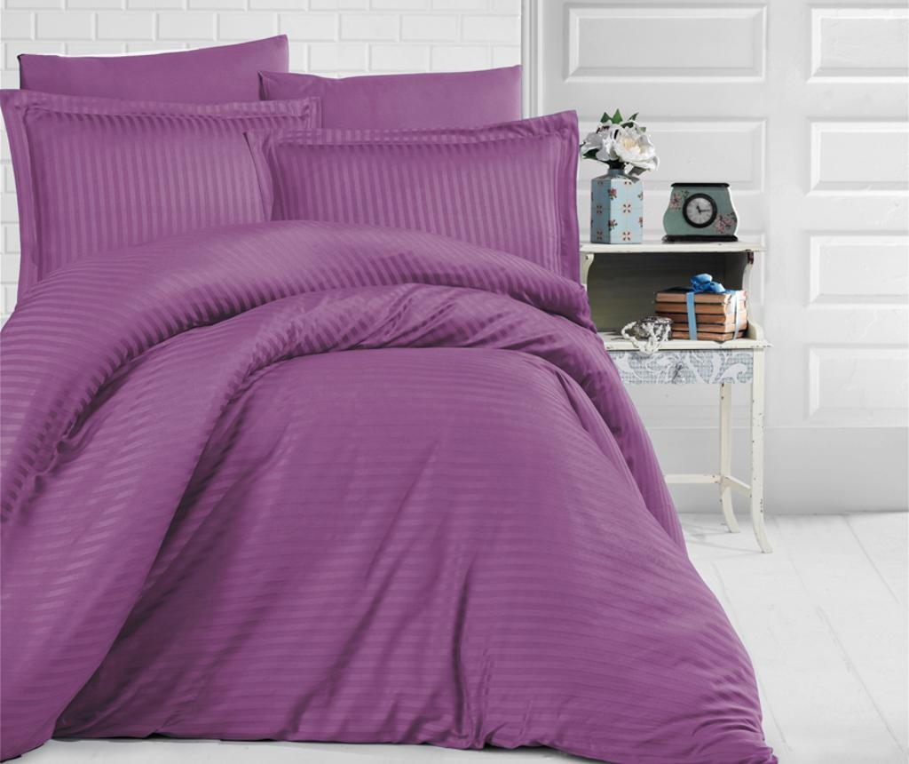 Posteljnina King Satin Supreme Uni Color Purple