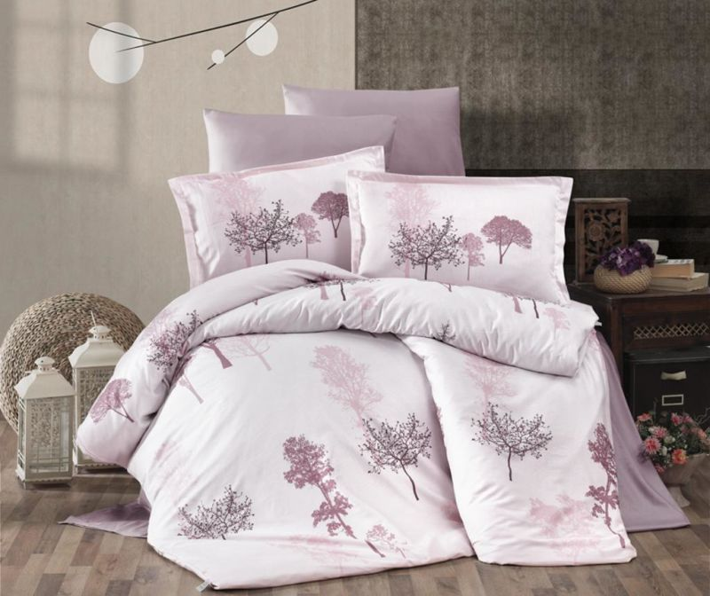 Set posteljina King Satin Supreme Armada Pink