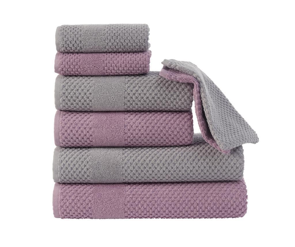 Set 8 ručnika Soft Grey