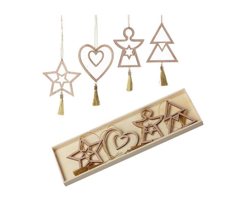 Sada 8 závěsných dekorací Christmas
