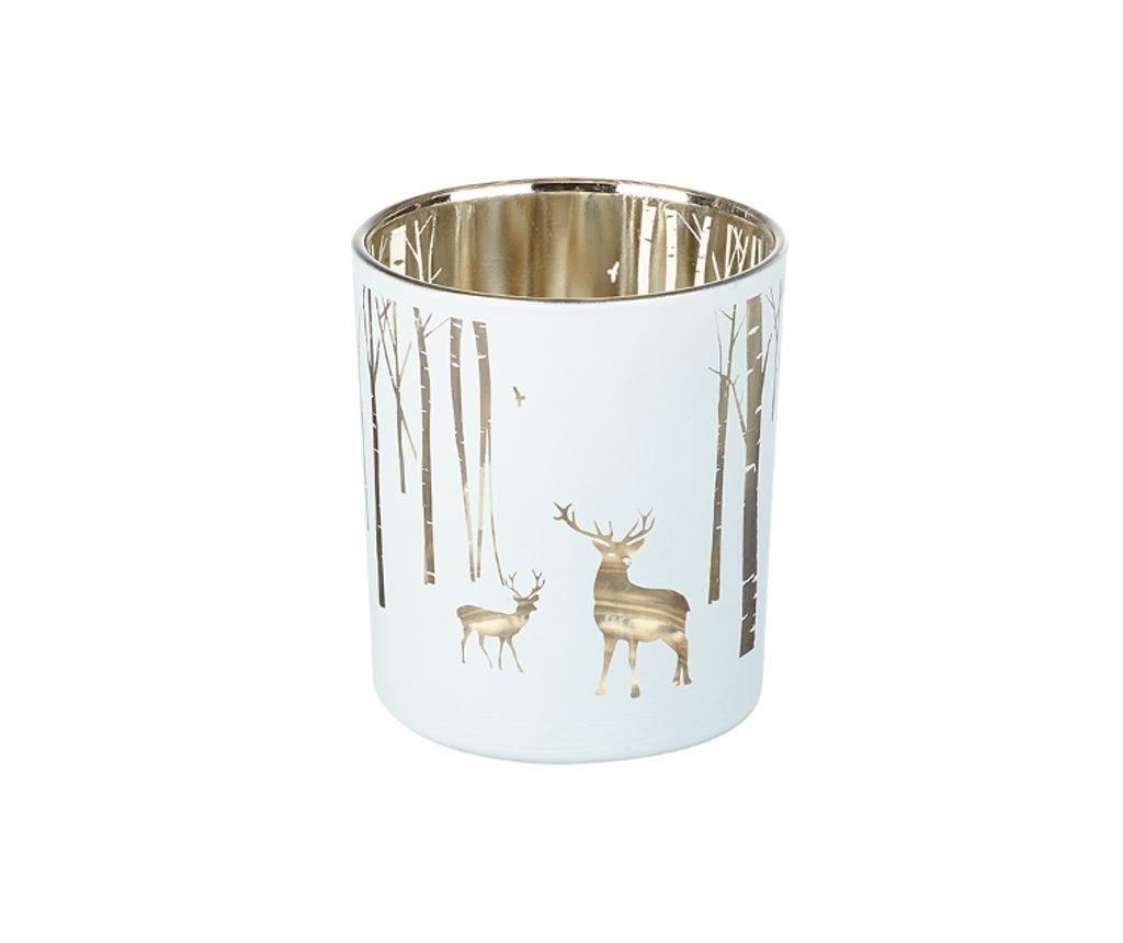 Svečnik Medium Silver Stag