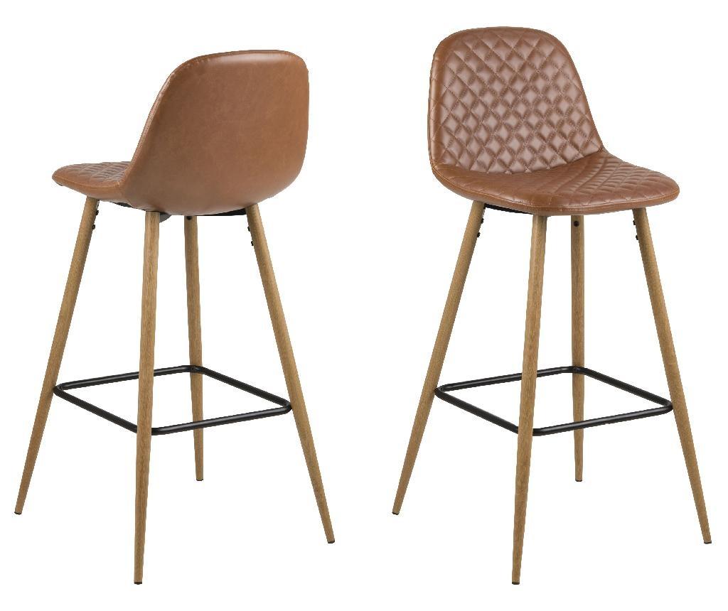 Sada 2 barových židlí Wilma Vintage Brandy