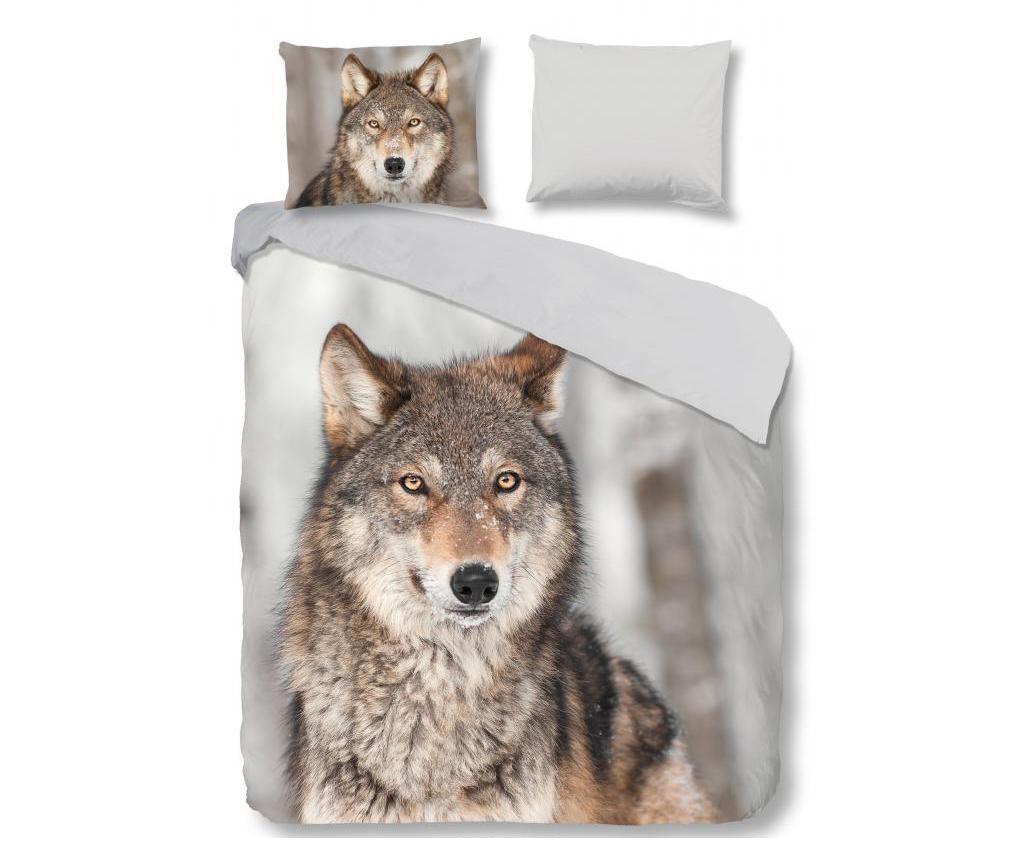 Posteljnina Double Flannel Wolf